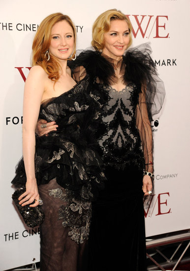 Andrea Riseborough and Madonna had their arms around each other in NYC.