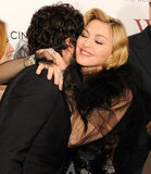 Madonna received many hugs on the red carpet.