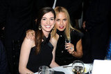 Rachel Zoe raised a glass with Anne Hathaway.