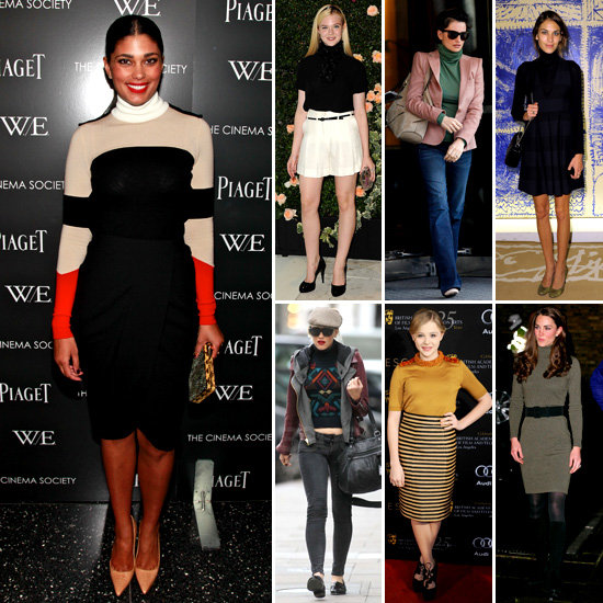 Celebrities Wearing Turtlenecks 2012