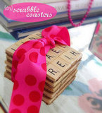 {DIY} Scrabble Coasters
