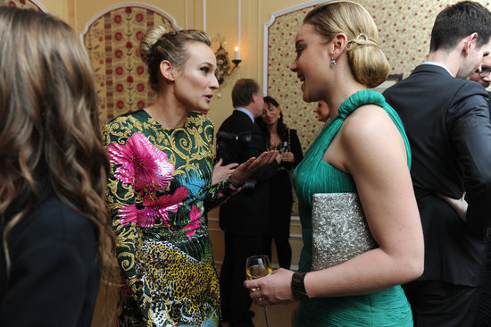 Diane chatted with Abbie Cornish inside the soiree.