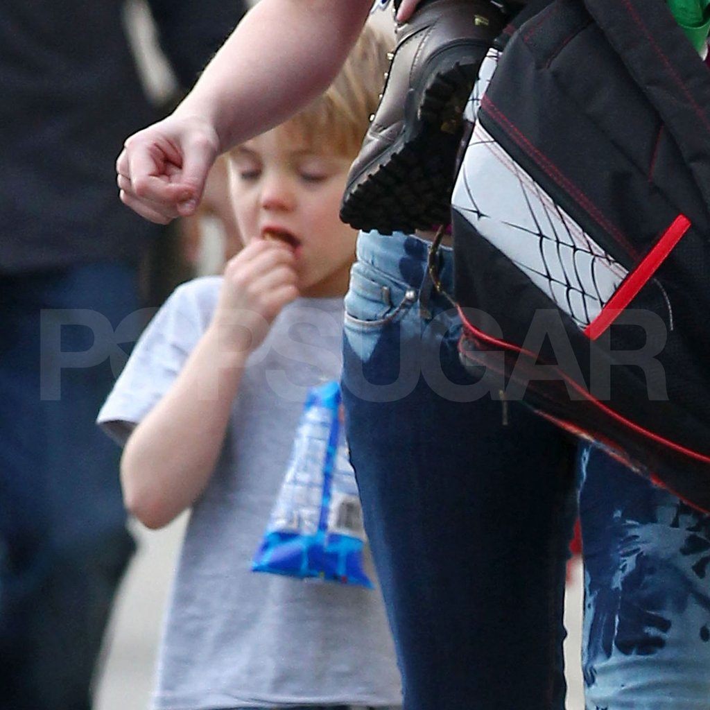 Jayden James Federline snacked after class in LA.