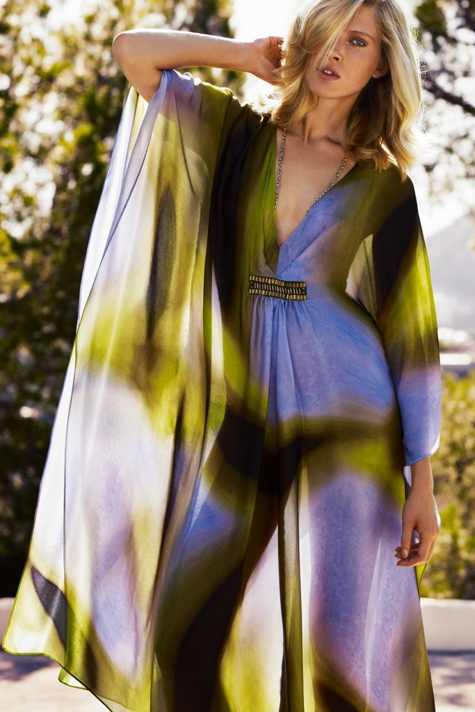 Gorgeous purples and greens at Escada Spring '12. Source: Fashion Gone Rogue