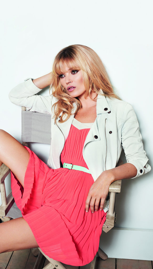 Kate Moss is pretty in pink in the newest batch of Mango Spring '12 ads.