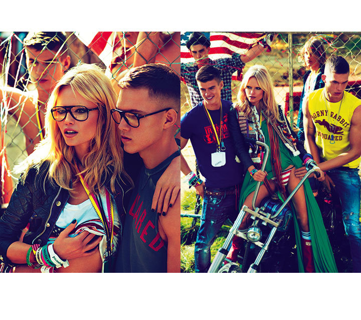 Americana meets rocker chick for Dsquared2 Spring 2012. Source: Fashion Gone Rogue