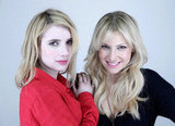 Blonde beauties Emma Roberts and Ari Graynor posed for Celeste and Jesse Forever.