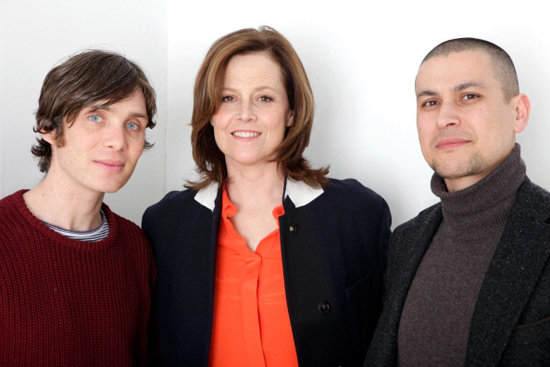 Cillian Murphy, Sigourney Weaver, and Rodrigo Cortes were promoting their film Red Lights.