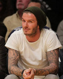 David Beckham looked cute courtside.