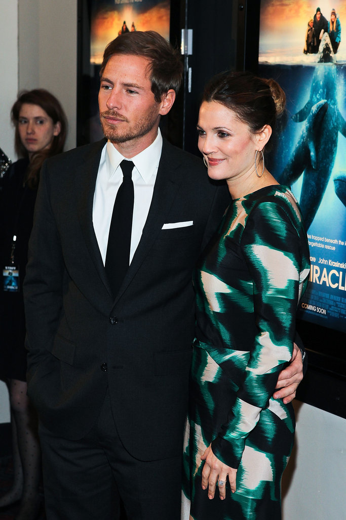 Drew Barrymore posed alongside fiancé Will Kopelman.