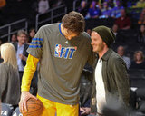David Beckham said hi to Pau Gasol.