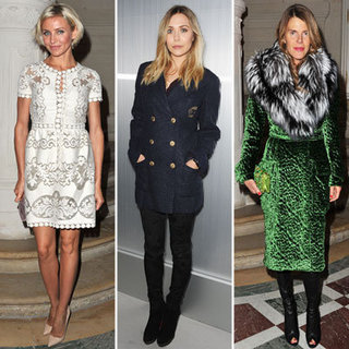 Celebrities at Paris Haute Couture Spring 2012 Shows