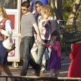 Tom Cruise and Suri visited Disneyland, where they took their turns on the teacup ride as well as had Suri's face painted.