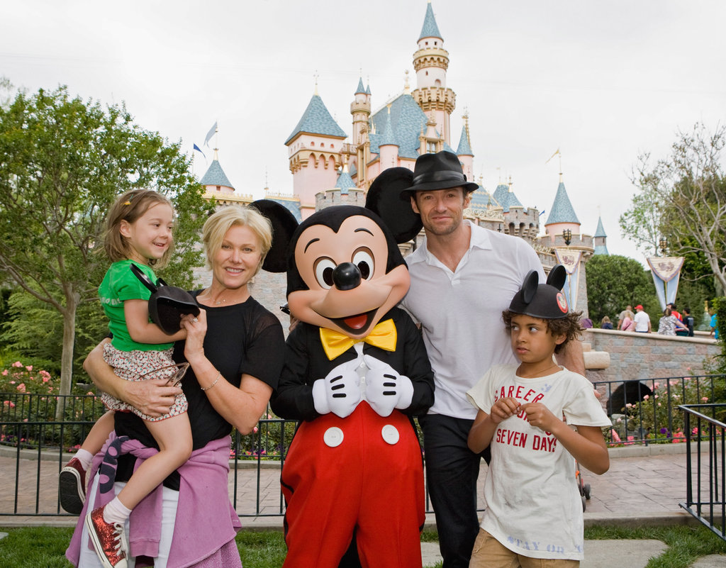 Hugh Jackman visited Disneyland in April 2009.