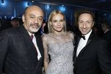 Diane Kruger posed with Christian Louboutin and Stephane Bern.