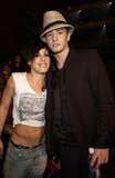 Justin Timberlake posed with Pink at the 2002 VMAs.