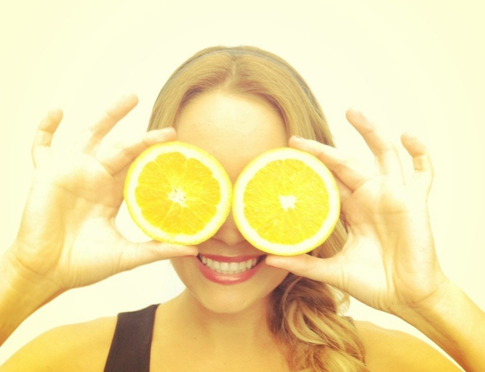 Lauren Conrad shared a silly snap while playing with oranges. Source: Twitter user laurenconrad