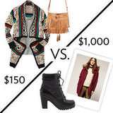 "See our FabSugar editors face off in a  ""cozy cabin getaway"" budget challenge. Which look do you like best?"