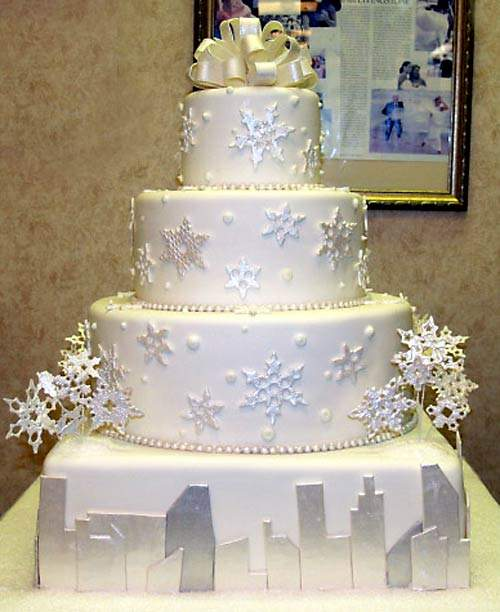 Delicious Winter Wedding Cakes Decorations Winter Wedding Cakes Snowflake