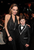 Angelina Jolie and Nolan Gould