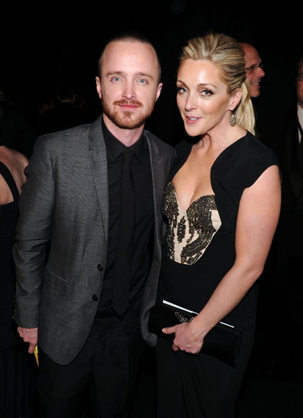 Aaron Paul and Jane Krakowski