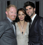 Bérénice Bejo got comfortable between Jesse Tyler Ferguson and Justin Mikita at the Weinstein Company's SAG Awards afterparty.