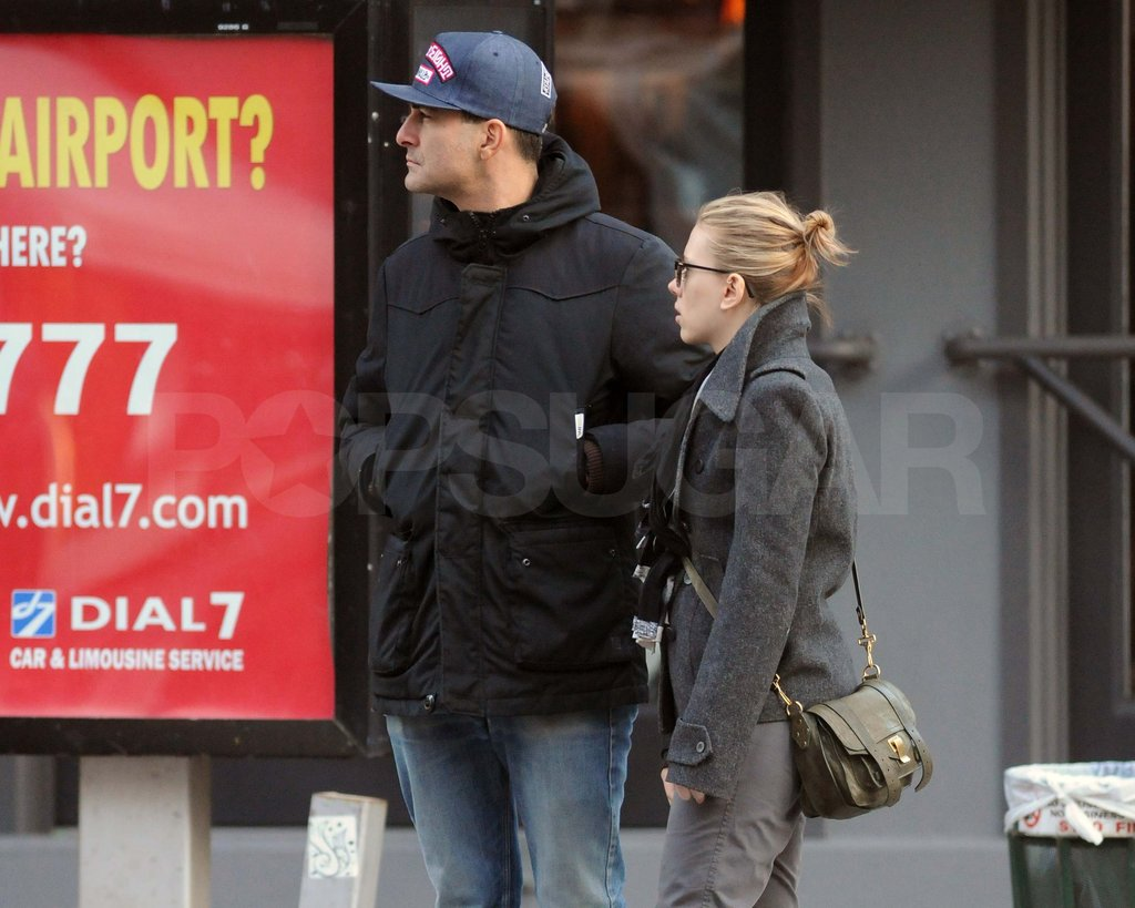 Scarlett Johansson with a new man in NYC.