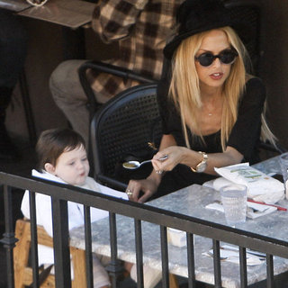 Rachel Zoe Pictures at Lunch With Son Skyler Berman