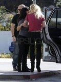 Lynne kissed Britney goodbye and left in a separate vehicle.