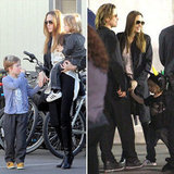 Brad Pitt and Angelina Jolie Bring Shiloh, Zahara, and Knox to See Cirque du Soleil