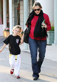 Jennifer Garner picked up Violet Affleck from karate class.