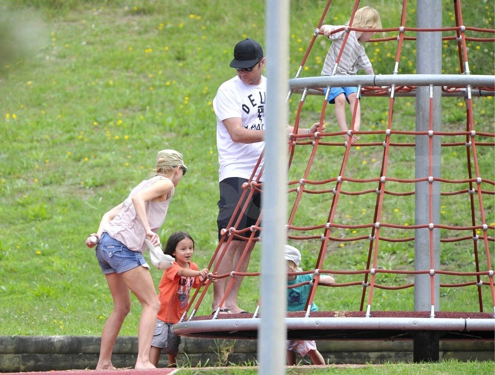 Naomi Watts and Liev Schreiber took Sasha and Samuel Schreiber to a playground in Sydney.