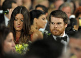 Jennifer Carpenter and Michael C. Hall sat together.