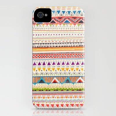 The illustrations on this Pattern iPhone 4/4S case ($35) have a handmade feel.