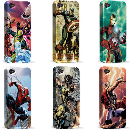 Have your favorite superhero on hand, at any time, with Marvel Comics cases ($40 each) for iPhone 4/4S.