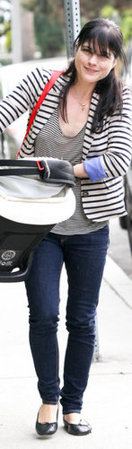 Selma Blair Striped Blazer