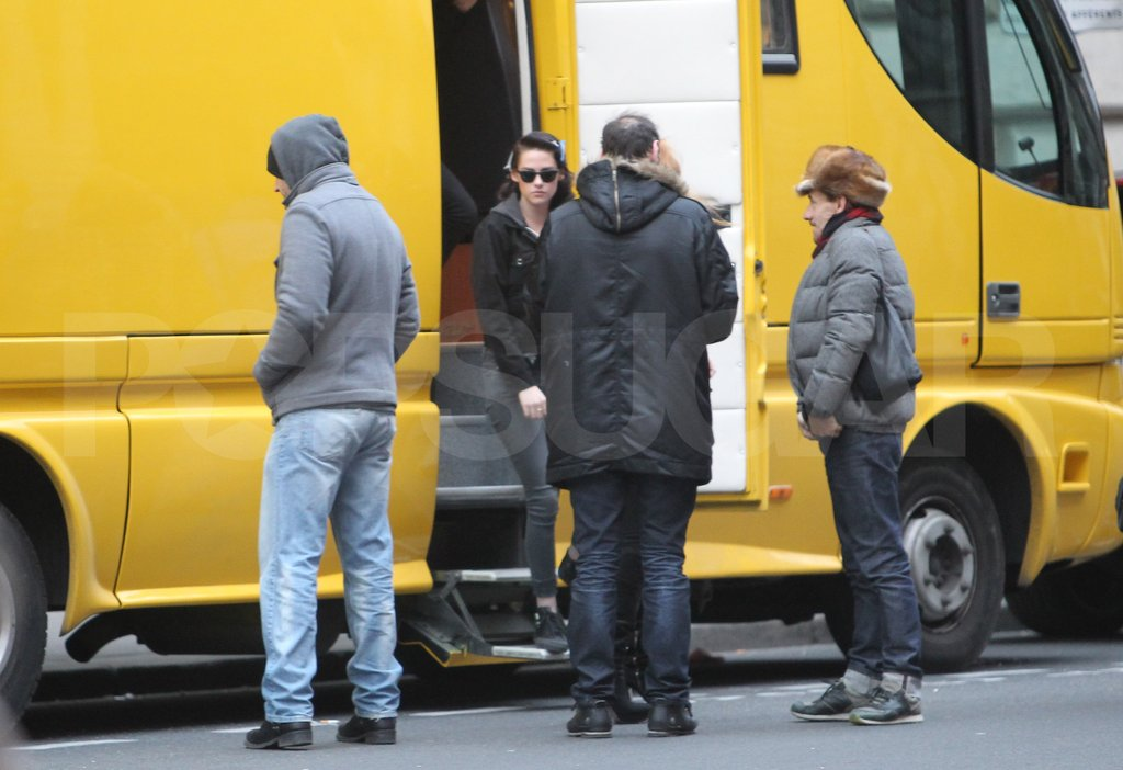 Kristen Stewart arrived for a Paris photo shoot.