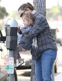 Pregnant Jennifer Garner with Seraphina.