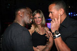 Cameron Diaz and then-beau Alex Rodriguez schmoozed with P. Diddy at the rapper's Super Bowl party in 2011.