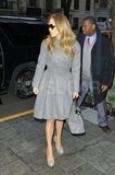 Jennifer Lopez wore gray for a day out in NYC.
