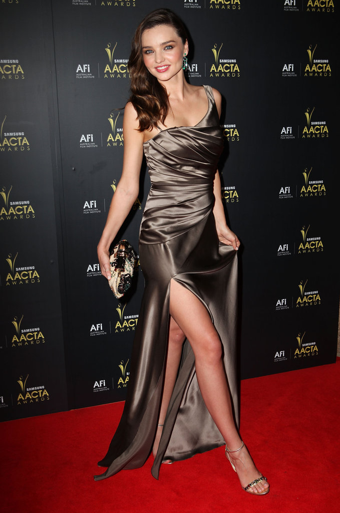 Miranda Kerr showed a lot of leg at the 2012 AACTA Awards in Sydney.