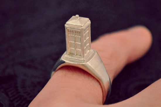 Tiny TARDIS Ring ($85)
