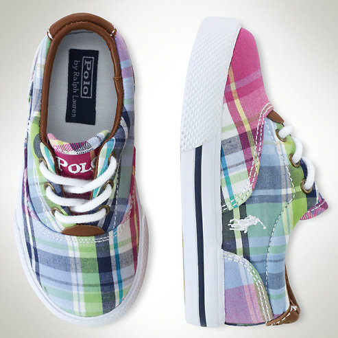 Ralph Lauren Toddler Vaughn Plaid Sneaker ($47)