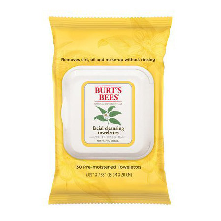 Burt's Bees Facial Cleansing Towelettes, $9.95