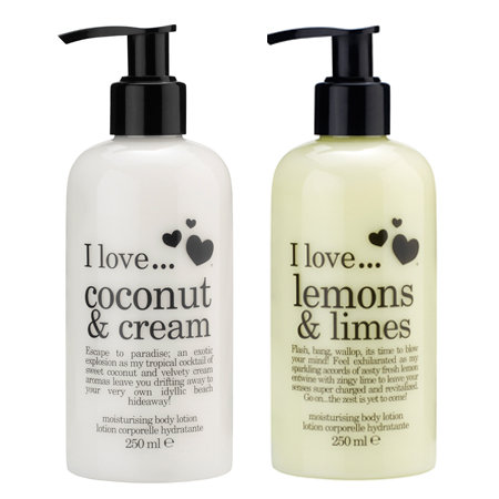 I Love… Moisturising Body Lotion Pumps, $11.50 each