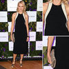 Naomi Watts Black and White Dress