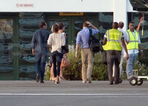 Pippa Middleton, James Middleton, Kate Middleton, and Prince William headed inside St. Lucia's airport.