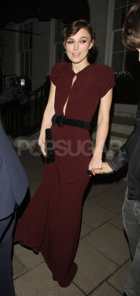 Keira Knightley partied after the London premiere of A Dangerous Method.