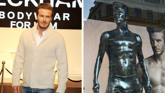 Video: David Beckham's Underwear Launch Includes a Very Sexy Statue