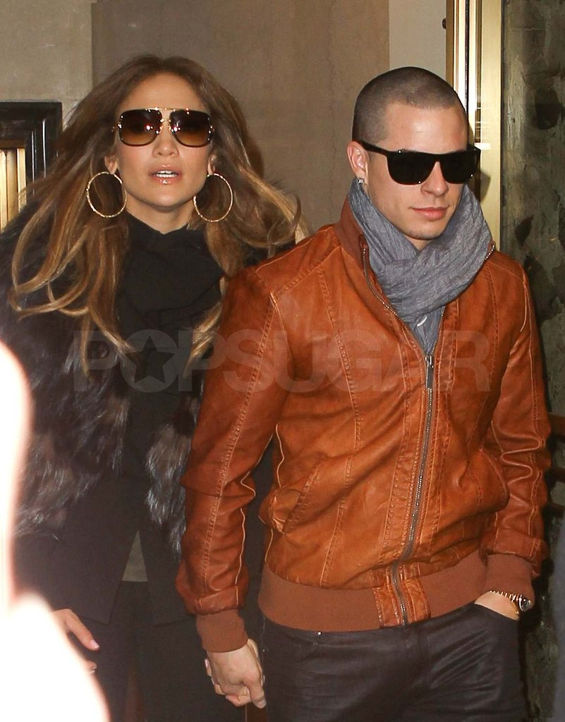 Jennifer Lopez and her boyfriend in NYC.